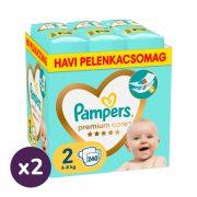 Pampers Premium Care pelenka, Mini 2, 4-8 kg, 1+1, 480 db
