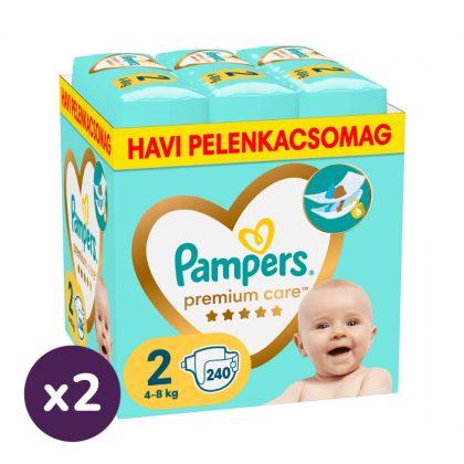 Pampers Premium Care Mini 2, 4-8 kg 1+1 AKCIÓ 480 db