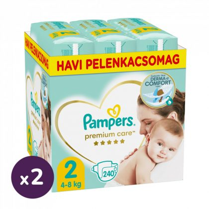 Pampers Premium Care pelenka, Mini 2, 4-8 kg, 1+1, 480 db