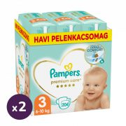 Pampers Premium Care Midi 3, 6-10 kg 1+1 AKCIÓ 408 db