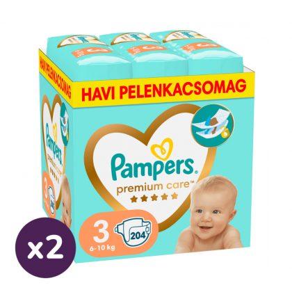 Pampers Premium Care Midi 3, 6-10 kg 1+1 AKCIÓ 408 db