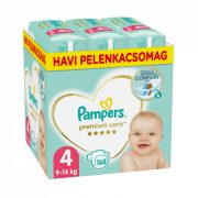 Pampers Premium Care Maxi 4, 8-14 kg HAVI PELENKACSOMAG 168 db