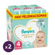 Pampers Premium Care Maxi 4, 9-14 kg 1+1, 336 db