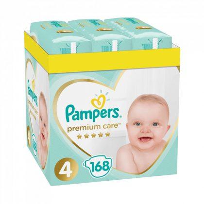 CSOMAGOLÁSSÉRÜLT - Pampers Premium Care pelenka, Maxi 4, 9-14 kg, HAVI PELENKACSOMAG 168 db