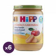 Hipp BIO alma-banán babakeksszel, 4 hó+ (6x190 g)