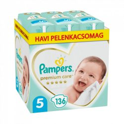 Pampers Premium Care Junior 5, 11-18 kg HAVI PELENKACSOMAG 136 db