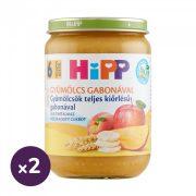 Hipp BIO gyümölcsök teljes kiőrlésű gabonával, 6 hó+ (2x190 g)