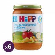 Hipp BIO tészta paradicsommal és cukkinivel, 6 hó+ (6x190 g)