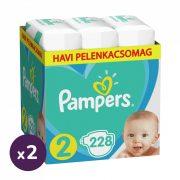 Pampers Active Baby pelenka, Mini 2, 4-8 kg, 1+1, 456 db + AJÁNDÉK Pampers Pure kókuszos törlőkendő 2x42 db