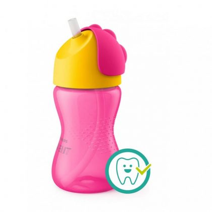Avent SCF798/02 Itatópohár rugalmas szívószállal 300 ml lányos