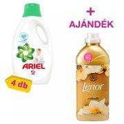 Ariel Baby folyékony mosógél 4x2,2 liter (160 mosás) + AJÁNDÉK Lenor Gold Orchid öblítő 2 liter