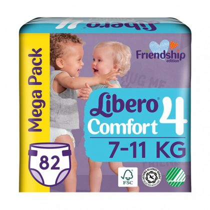 Libero Comfort pelenka megapack, Maxi 4, 7-11 kg, 82 db