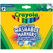 Crayola 12 db vastag lemosható filctoll
