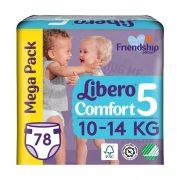 Libero Comfort pelenka megapack, Maxi+ 5, 10-14 kg, 78 db