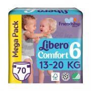 Libero Comfort pelenka megapack, Junior 6, 13-20 kg, 70 db