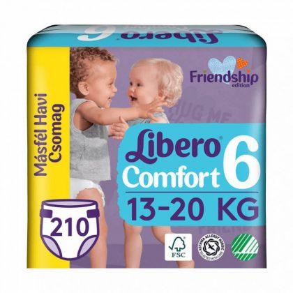 Libero Comfort pelenka, Junior 6, 13-20 kg, MÁSFÉL HAVI PELENKACSOMAG 3x70 db