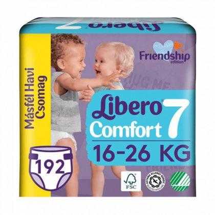 Libero Comfort pelenka, XL 7, 16-26 kg, MÁSFÉL HAVI PELENKACSOMAG 3x64 db