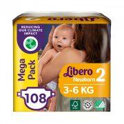 Libero Newborn pelenka Megapack, Mini 2, 3-6 kg, 108 db-os