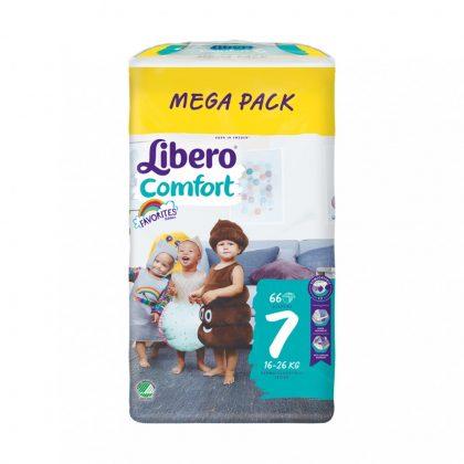 Libero Comfort pelenka megapack, XL 7, 16-26 kg, 66 db