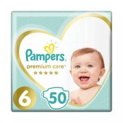 Pampers Premium Care pelenka, Junior 6, 13 kg+, 50 db