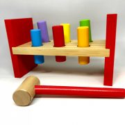 Fa kalapálós ügyességi játék (közepes méret)