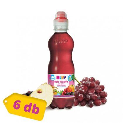 Hipp BIO szénsavmentes ásványvíz piros gyümölcslével, 12 hó+ (6x300 ml)