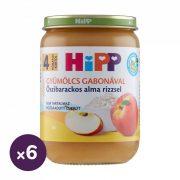 Hipp BIO őszibarackos alma rizzsel, 4 hó+ (6x190 g)