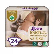 Libero Touch pelenka, Koraszülött 0, 1-2,5 kg, 24 db