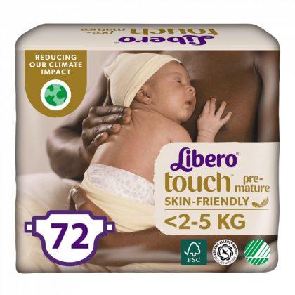 Libero Touch pelenka, Koraszülött 0, 1-2,5 kg, 3x24 db