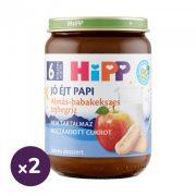 Hipp BIO jó éjt papi almás-babakekszes tejbegríz, 6 hó+ (2x190 g)