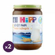Hipp BIO jó éjt papi natúr tejbegríz, 6 hó+ (2x190 g)