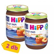 Hipp BIO jó éjt papi almás-őszibarackos tejbegríz, 6 hó+ (2x190 g)