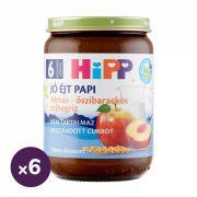 Hipp BIO jó éjt papi almás-őszibarackos tejbegríz, 6 hó+ (6x190 g)