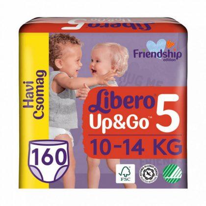 Libero UP&GO bugyipelenka, Maxi+ 5, 10-14 kg, HAVI PELENKACSOMAG 4x40 db