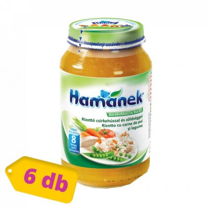 MEGSZŰNT - Hamánek bébiétel rizottó csirkehússal és zöldséggel, 8 hó+ (6x230 g)