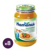Hamánek bébiétel bolognai spagetti csirkehússal, 8 hó+ (8x230 g)