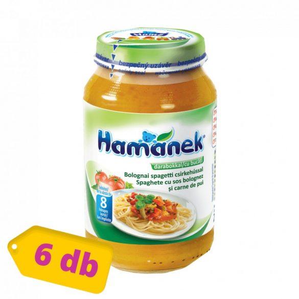 Hamánek bébiétel bolognai spagetti csirkehússal, 8 hó+ (6x230 g)