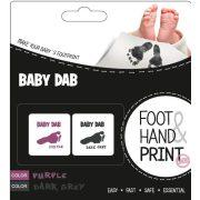 Baby Dab lenyomat készítő - lila és szürke