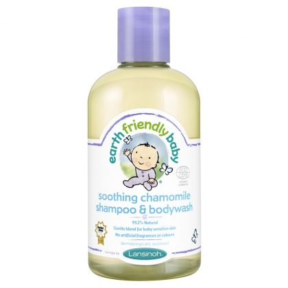Earth Friendly Baby Organikus kamillás sampon és tusfürdő 250 ml