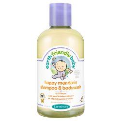 Earth Friendly Baby Organikus mandarinos sampon és tusfürdő 250 ml