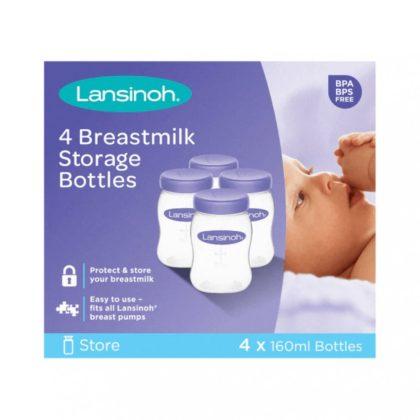 Lansinoh Anyatejtároló palackok 160 ml (4 db)