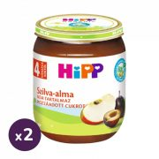 Hipp BIO szilva-alma, 4 hó+ (2x125 g)
