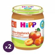 Hipp BIO alma-sárgabarack, 4 hó+ (2x125 g)