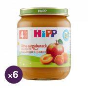 Hipp BIO alma-sárgabarack, 4 hó+ (6x125 g)