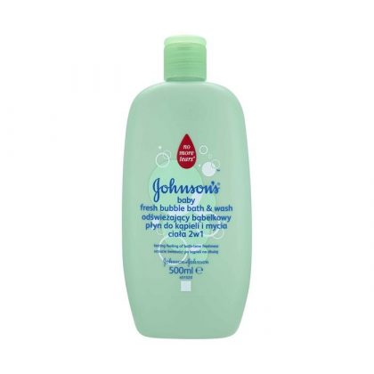 Johnson's zöldbuborékos babafürdető, 500 ml