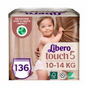 Libero Touch bugyipelenka, Maxi+ 5, 10-14 kg, HAVI PELENKACSOMAG 4x34 db