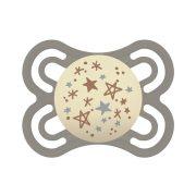MAM Perfect Night világítós szilikon cumi 2-6 hó (arany-szürke csillag)