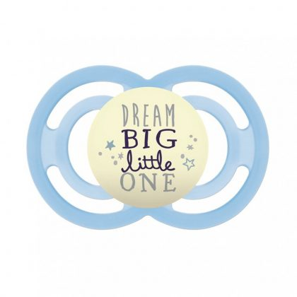 MAM Perfect Night világítós szilikon cumi 6 hó+ (kék Dream Big Little One)