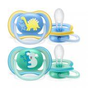 Avent SCF349/11 Ultra air játszócumi 18 hó+ 2 db (zöld, kék)