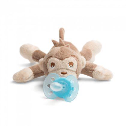 Avent SCF348/12 Snuggle plüss cumitartó és ultrasoft játszócumi 0-6 hó (majom)